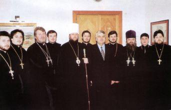 Împreună cu un grup de preoți în vizită la Primăria Chișinău