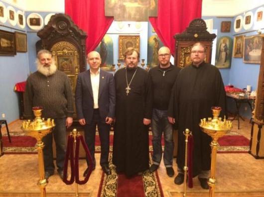 Протоиерей Александр Пелин встретился с вице-губернатором Константином Серовым