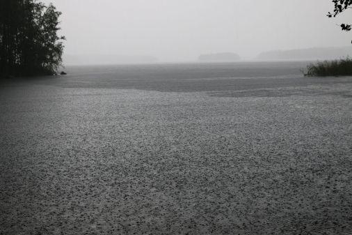strömender Regen!