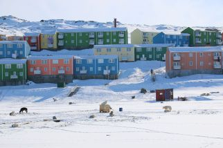 Wohnanlage am Rand von Ilulissat: unser zu hause für die nächsten beiden Nächte