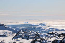 Eisriesen am Ausgang des Fjords