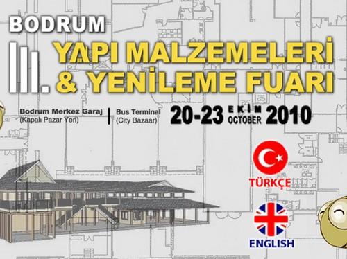 BODRUMda 20 – 23 Ekimde 3. Yapı Malzemeleri ve Yenileme Fuarı açılıyor
