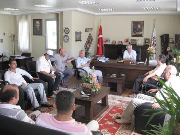 Milas Spor Yönetimi ve Başkanı Halil İbrahim GÜLEN den MİTSO ya ziyaret.