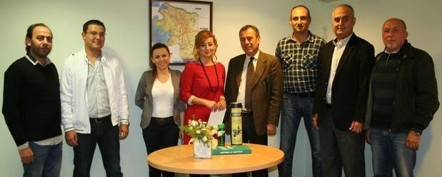 MİTSO Yönetimi Garanti Bankası'nı ziyaret etti.