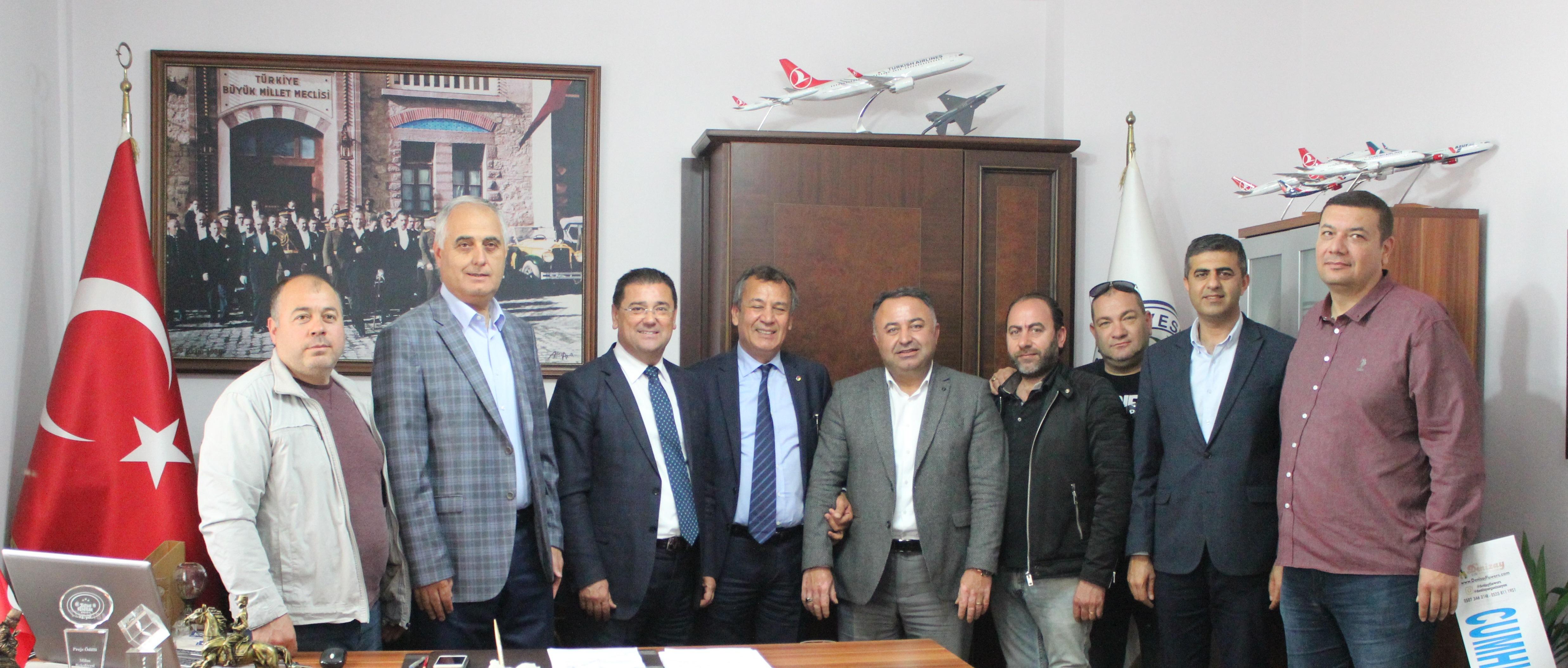 """MİTSO, Belediye Başkanı Muhammet Tokat'ı ziyaret ederek kutladı. """"MİLAS'TA EKSİĞİMİZ YOK, FAZLAMIZ ÇOK"""""""