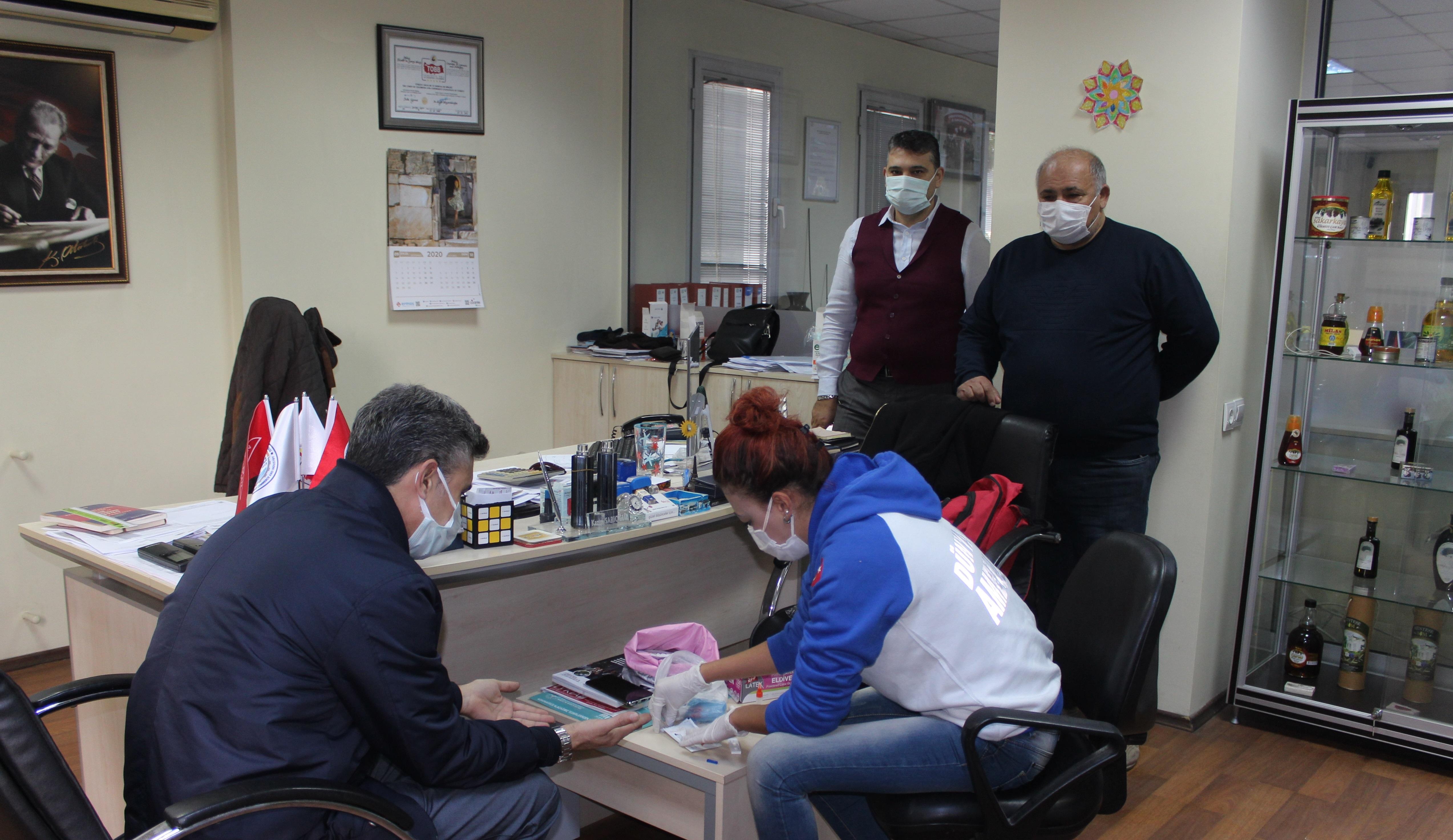 Çalışanların Covid-19 testleri yapıldı: MİTSO TEMİZ ÇIKTI!