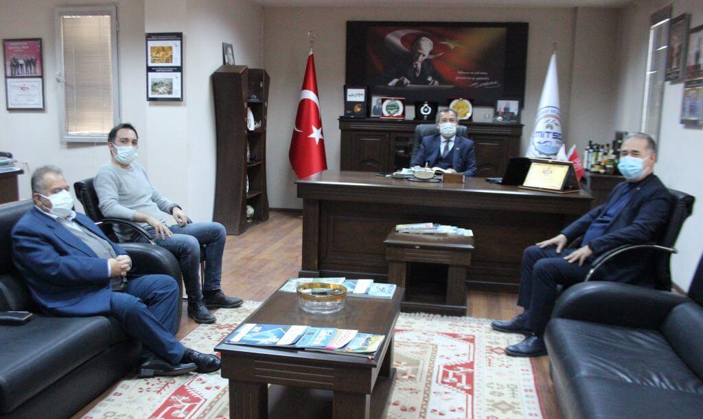 CHP Milletvekili Özcan ve arkadaşları MİTSO'da… MİTSO'NUN AB COĞRAFİ İŞARETİNİ VE YENİ YILI KUTLADILAR