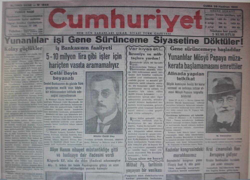Türkiye İş Bankası'ndan MİTSO'ya çok özel bir armağan: İŞ BANKASI MİLAS ŞUBESİNİN KURULUŞUNU VEREN CUMHURİYET GAZETESİ