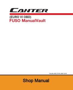 FUSO Canter FE FG Euro6 Workshop Manual PDF Download