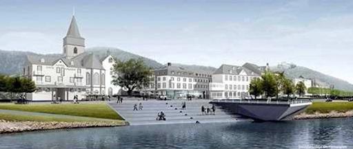 So präsentierte die Stadt St. Goar 2014 die Idee für den Rheinbalkon. Bild: Stadtverwaltung St. Goar.