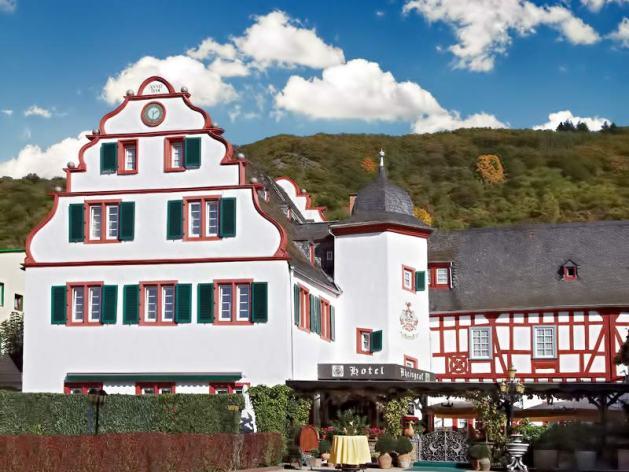 """Hotel Rheingraf: Der ehemalige """"Von der Leyen'schen Hof"""" stammt aus dem späten 16. Jahrhundert. Foto: Hotel Rheingraf"""
