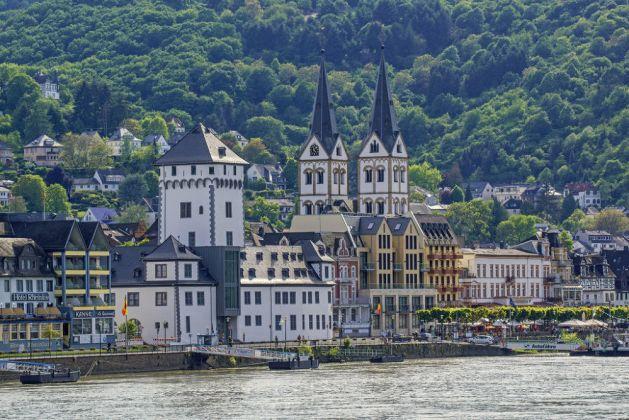 Blick auf Boppard und die Doppeltürme von St. Severus. Foto: Friedrich Gier / Romantischer Rhein Tourismus