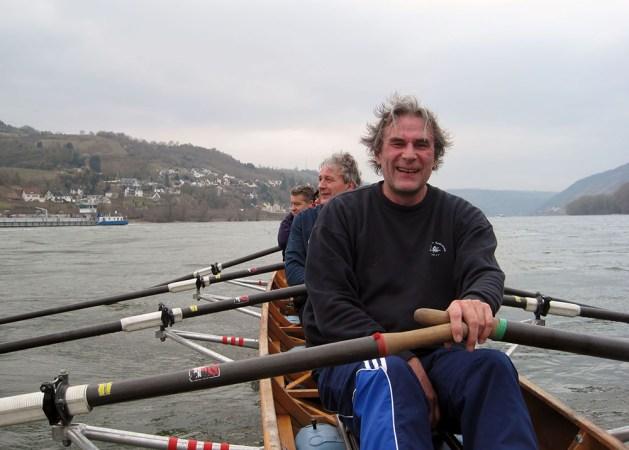 Alle in einem Boot: Markus Patschke beim Bacharacher Ruderverein. Foto: Privat.