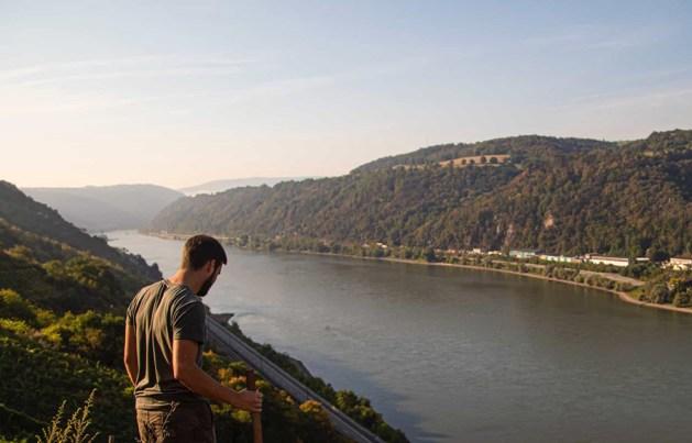 Blick von Dörscheid ins Mittelrheintal.