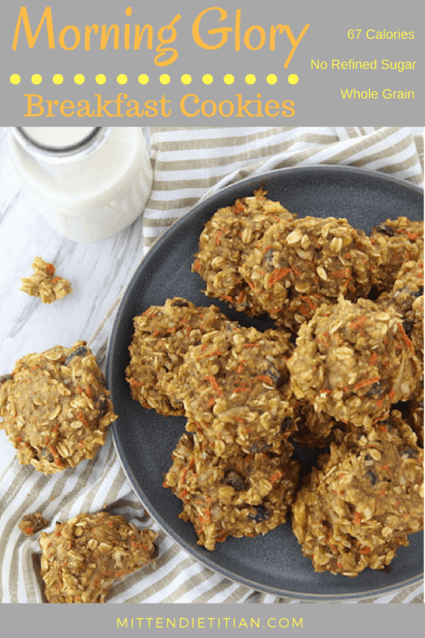 Healthy and delicious morning glory breakfast cookies! Packed with fruit, veggies, and whole grains!