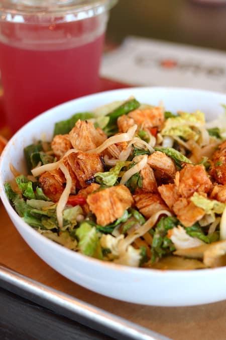 Spicy Thai Chicken & Rice Noodle Bowl