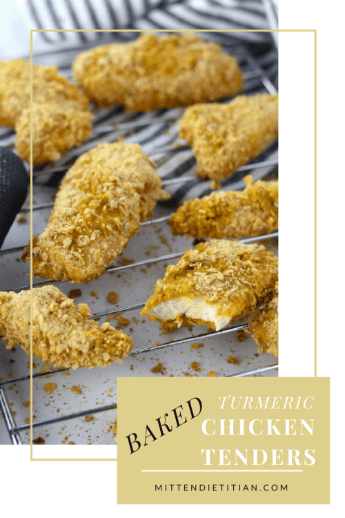 A childhood favorite gets a makeover with these baked turmeric chicken tenders!