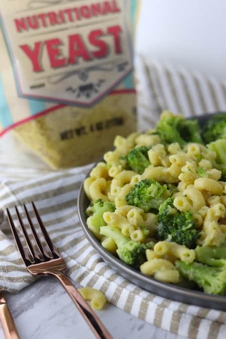 Vegan broccoli mac and cheese