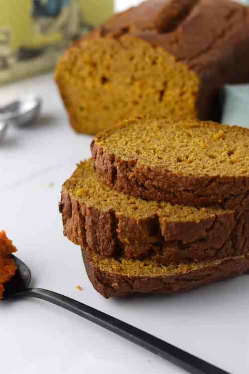 one bowl, healthier pumpkin bread