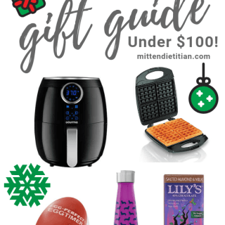 The ultimate gift guide for the fit foodie in your life! And all under $100!!! #giftguide #fitness #fitfoodie #christmas #holidays #holidayguide #affordablegifts #foodie