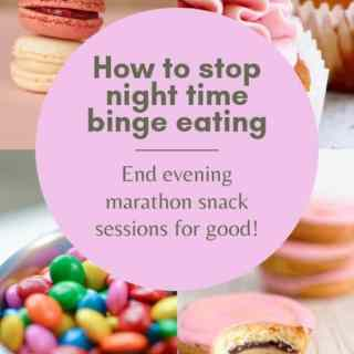 FINALLY! A solution for how to stop binge eating for good! It's SO obvious, you'll wonder why you hadn't thought of it! #intuitiveeating #foodfreedom #bingeeating #allfoodsfit
