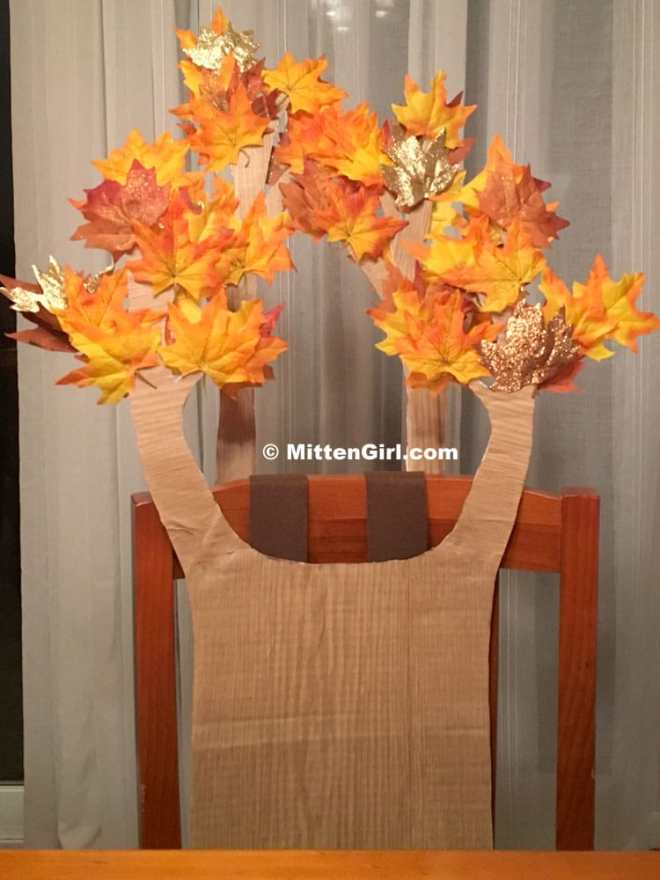 Completed tree costume!