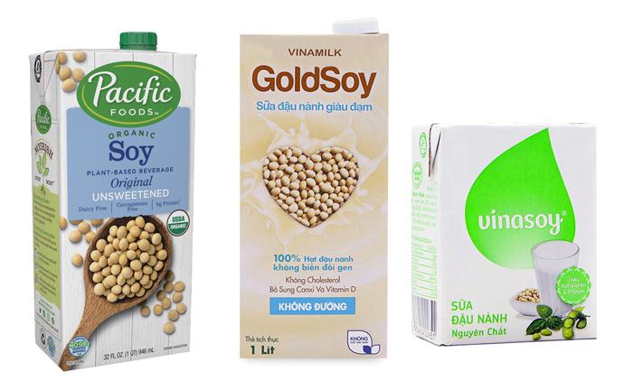 Các loại sữa đậu nành tốt cho quá trình giảm cân