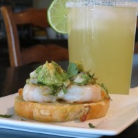Shrimp Bruschetta with Guacamole