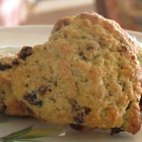 Heart-Shaped Dried Cherry and Chocolate Chip Scones