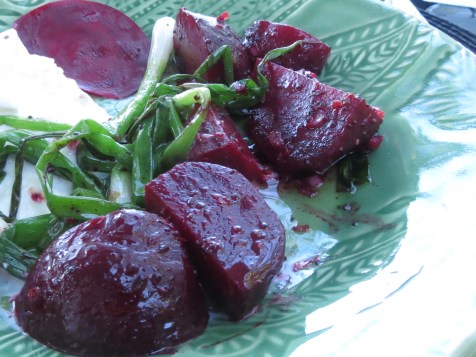 Grilled Beets with Burrata and Poppy Seed Vinaigrette 1