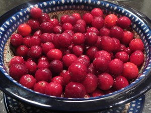 Use fresh or frozen cranberries