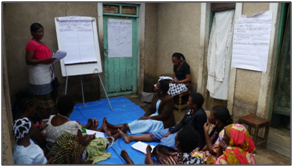 Women participating in the gender training