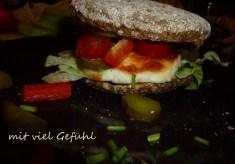 Halloumi-Burger für mich