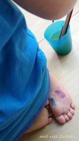 6. bunte Füße