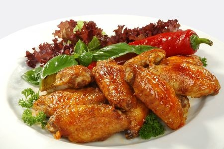 chicken wings appetizer plate