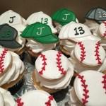 Kosher Baseball Cupcakes