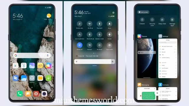 UI 12 Earth Experience MIUI 11 Theme with MIUI 12 Like Control Center