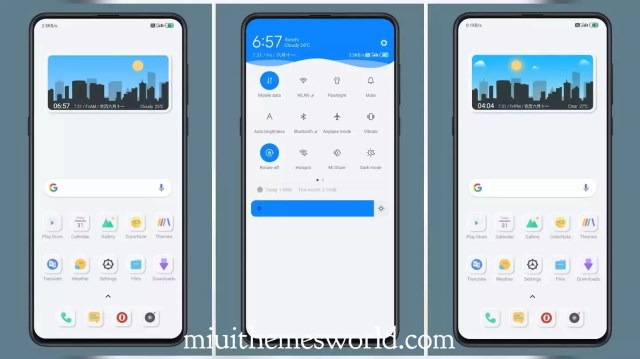 New mimicry MIUI 11 Theme | Dynamic Clock Wallpaper