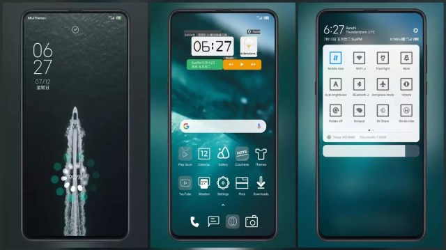 Scattered under the sea MIUI 11 Theme | multi function desktop widget