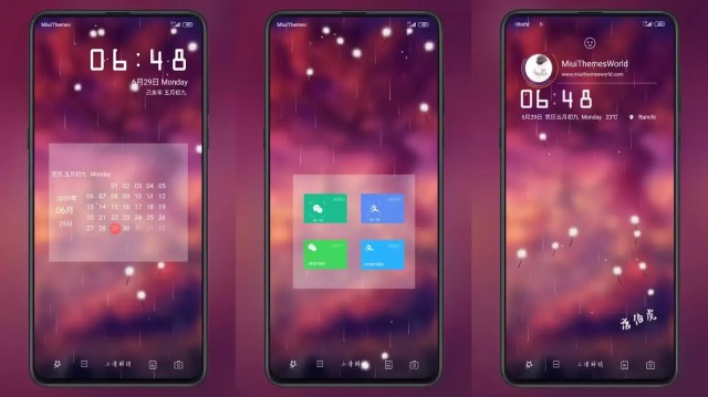 Spy MIUI 11 Theme | Dynamic light spot Rain and Dandelion