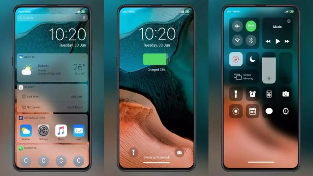 iOS 13 Beta MIUI Theme for MIUI 11 with Awesome Desktop Widget