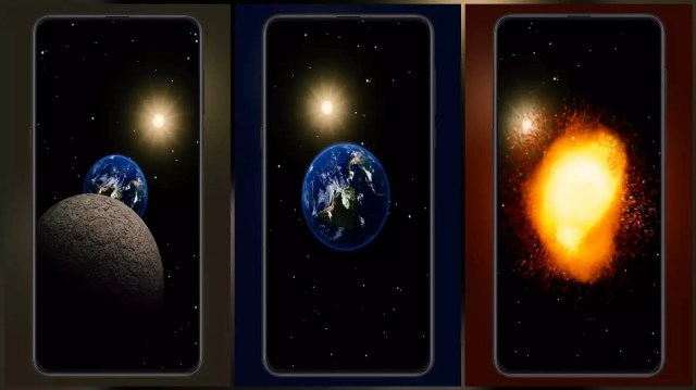 Planet explosion MIUI Video Wallpaper