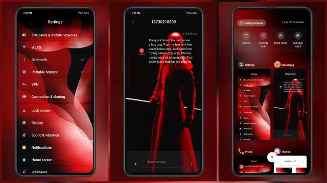 Black Red v2.1 MIUI Theme for MIUI 12