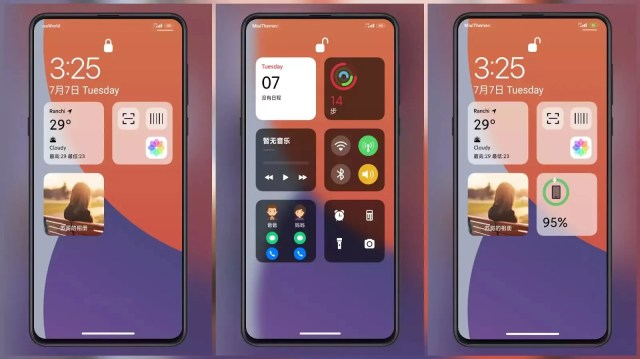 ip14 MIUI Theme for MIUI 12 | Cards on Lock Screen
