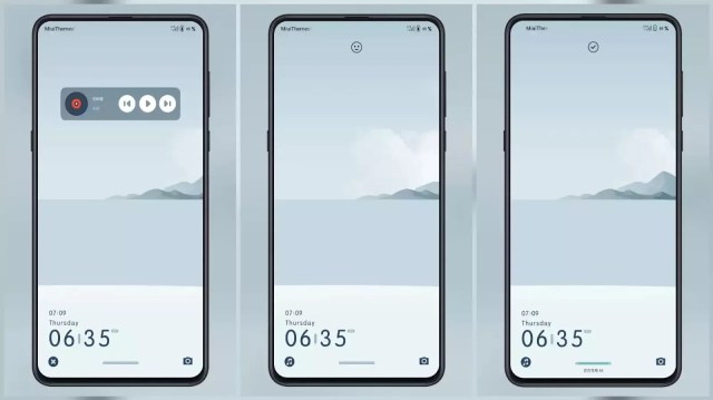 The sea MIUI Theme for MIUI 11 with animated clouds
