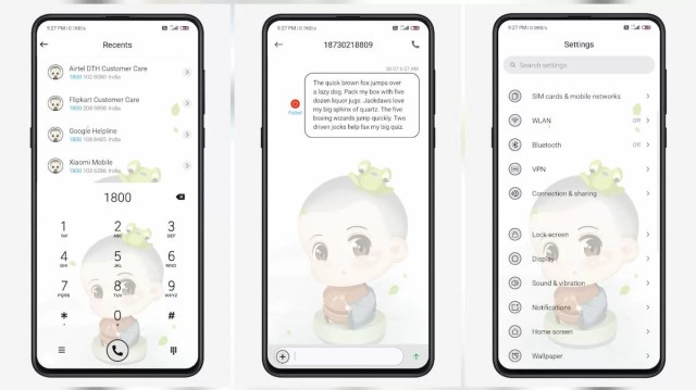 Q-cute-little-novice-monk-MIUI-11-Theme-with-Animated-lock-screen
