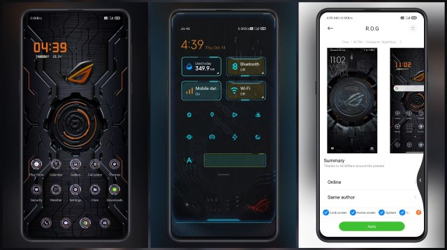 Convert-MIUI-to-complete-gaming-look-with-R.O.G-MIUI-Theme
