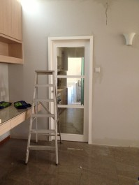 Door to kitchen installed