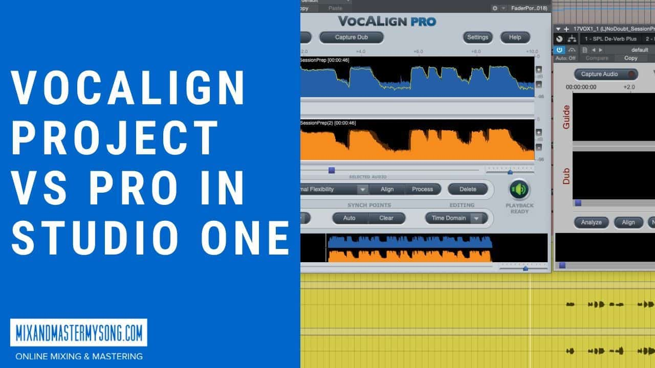 Vocalign Project vs Pro in Studio One