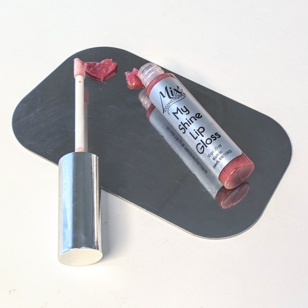 """Rich results on Google's SERP when searching for """"custom lip gloss"""" customized lip gloss with heart on palette My Shine Lip Gloss in silver tube with moisturizing lip gloss"""